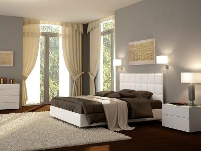 Кровать из экокожи Promtex Orient Bekki